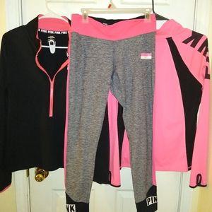 PINK ultimate yoga leggings and jacket set